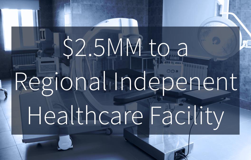 Quail Arranges $2.5MM Equipment Funding for Healthcare Facility