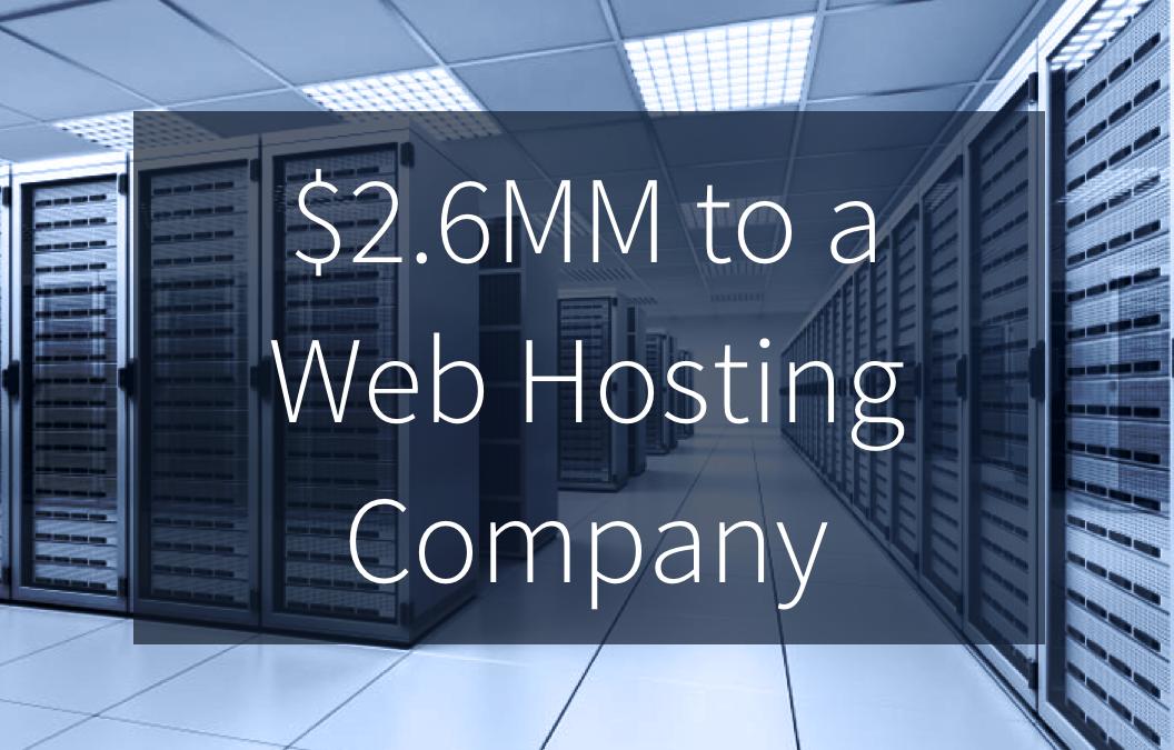 Quail Arranges $2.6MM Equipment Financing to Web Hosting Company